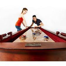 barrington 9 solid wood shuffleboard table barrington 9 classic wood shuffleboard hidden cabinets wine rack ebay