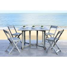 Gray Patio Furniture Sets Dining Chair Wood Gray Patio Conversation Sets Outdoor