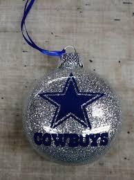 dallas cowboys disc handmade glass ornament