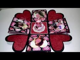 explosion box for girlfriend birthday box diy falling card