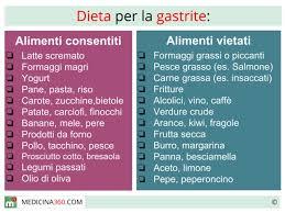 per gastrite cosa mangiare cibi da evitare e alimenti concessi