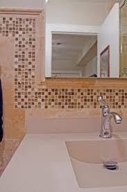Tiled Vanity Tops Travertine Bathroom Tiles Mosaic Tiles Double Sink Vanity Top 48in