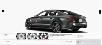 audi configurater now available 2014 audi rs7 configurator