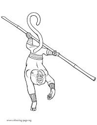 kung fu panda 3 monkey coloring page