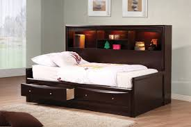 espresso twin or full daybed with storage orange county image 1