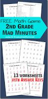 free math games 2nd grade mad minutes 2nd grades math games