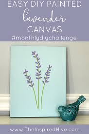 How To Do Wall Painting Designs Yourself by Easy Diy Painted Lavender Canvas Simple Four Step Tutorial On How