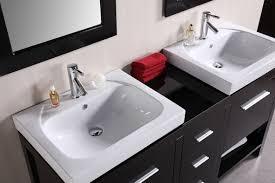 Double Vanity Tops For Bathrooms Design Element New York Double 60 6 Inch Modern Bathroom Vanity