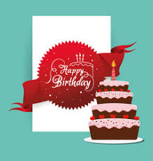 happy birthday cake card festive royalty free vector image