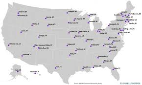 most affordable small towns map business insider