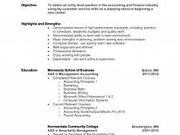 Banking Resume Objective Entry Level Majestic Looking Resume Objective For Entry Level 6 Accounting