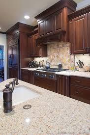 kitchen of the day dark cherry cabinets matching refrigerator