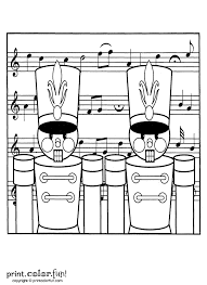 toy nutcracker soldiers for christmas coloring page print color