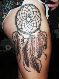 tattoo ideas thigh tattoos dream catchers dream catcher tattoo