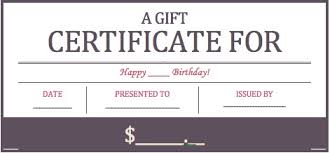 download birthday gift certificate templates wikidownload