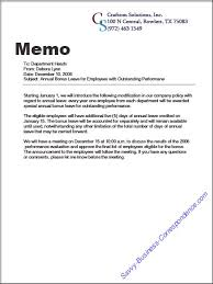 internal memo examples are there types of memos
