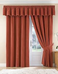 Terracotta Curtains Ready Made by Thermal Velour Velvet Curtains Finished In Terracotta 46