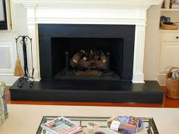 bold black say it all for this granite fire place surround