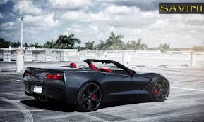 corvette stingray matte black corvette savini wheels