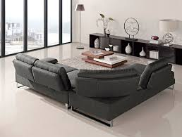 sectional sofa in gray fabric by at home usa