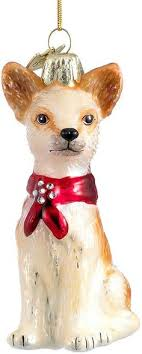 kurt adler noble gems glass chihuahua ornament