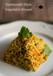 biryani indian cuisine restaurant style vegetable biryani hotel vegetable biryani