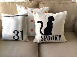 halloween pillow spooky cat pillow