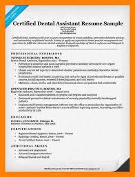 Resume Templates For Dental Assistant Dental Resume Lukex Co