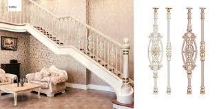 decorative luxury precast aluminum balusters for indoor stair