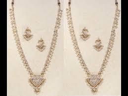 white stone necklace sets images Cz necklace designs latest jpg