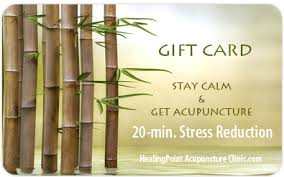 acupuncture and massage gift certificates