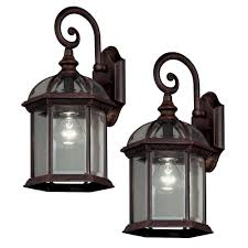 Battery Operated Wall Sconces Home Depot Bronze Outdoor Wall Mounted Lighting Outdoor Lighting The