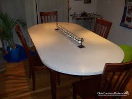 Concrete Dining Room Table Services Concrete Countertops Ocr Ohios Best Concrete