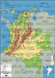 Map Of Columbia South America by Geoatlas Countries Colombia Map City Illustrator Fully