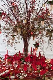 Christmas Floral Table Decorations by Poinsettia Christmas Table Design By Florist Paula Pryke Vintage