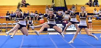 medomak valley high cheerleaders debut routines penbay pilot