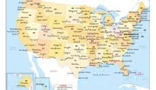 united states major cities map united states map nations project map usa with
