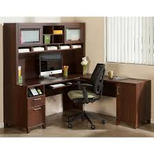 L Shaped Computer Desk Amazon by Amazon Com Achieve L Shaped Desk With Hutch Kitchen U0026 Dining