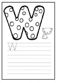 uppercase letter w worksheet free printable preschool and