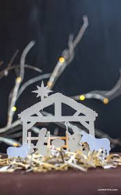 papercut nativity scene freebie lia griffith