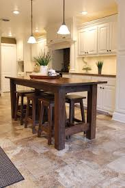 kitchen table island ideas rustic farmhouse bar island table with 6 barstools island table