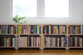perfect cool simple nice compact under window bookcase with small