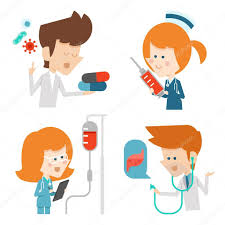 Doctor And Nurse Doctor And Nurse Flat Character Design U2014 Stock Vector