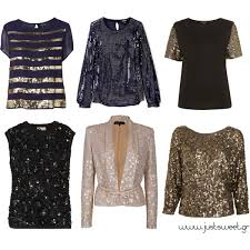 sequin tops polyvore