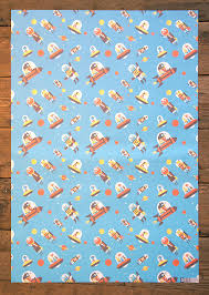 cat wrapping paper nobrow press flying astro cat wrap 5 sheets