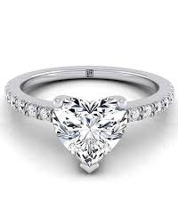 heart shaped wedding rings heart shaped engagement rings