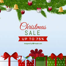 christmas sale christmas sale background in retro style vector free