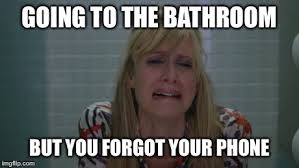 Forgot Phone Meme - image tagged in toilet cell phone cry crying upset imgflip