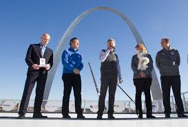ice skate under the arch as winterfest opens cbs st louis