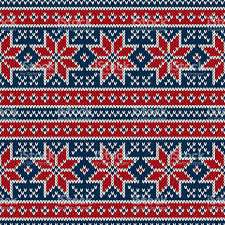 christmas pattern knit fabric winter holiday seamless knitting pattern with snowflakes fair isle